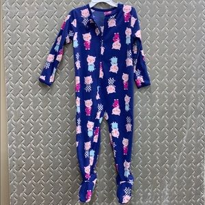 Carter's fleece footie pajamas sleepy piggies